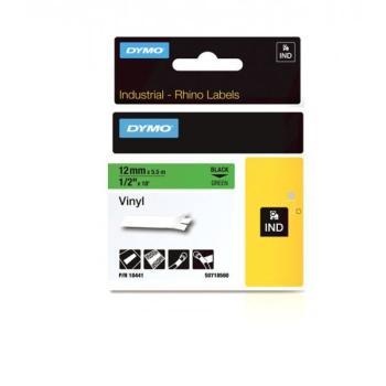 DYMO Ετικέτες RHINO S0718560  12mm VINYL ΤΑΡΕ GREEN