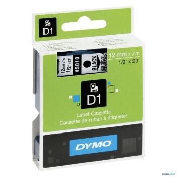 DYMO Ετικέτες D 45010 D1 ΤΑΡΕ 12mx7M BLACKonTR/PARENT