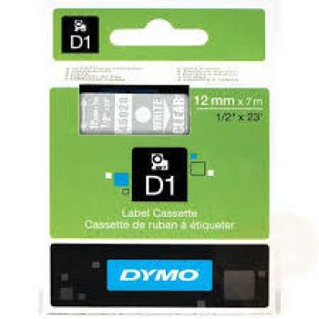 DYMO Ετικέτες D 45020 D1 ΤΑΡΕ 12mx7M WHITEonTR/PARENT