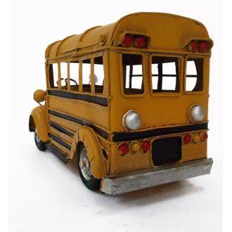 Vintage Μινιατούρα σιδερένια μεγάλων διαστάσεων School Bus 25cm