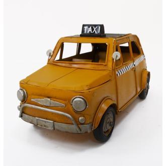 Vintage Μινιατούρα σιδερένια μεγάλων διαστάσεων Fiat Taxi 25cm
