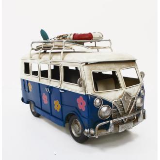 Vintage Μινιατούρα σιδερένια μεγάλων διαστάσεων Old School Bus 25cm