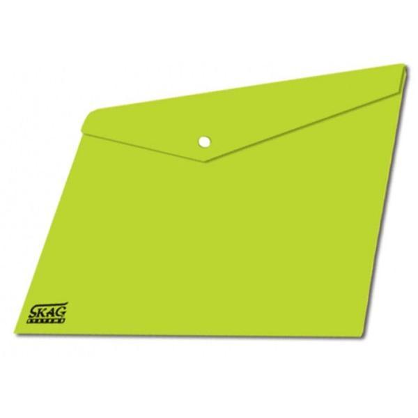 Φάκελλος Πράσινος με Κουμπί Α4 Διαφανής