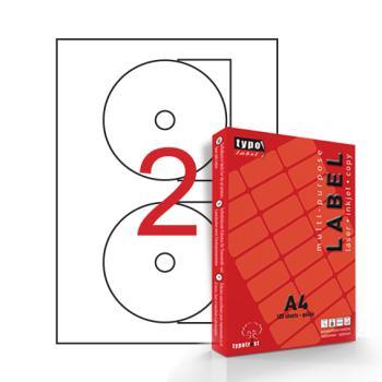 Αυτοκόλλητες ετικέτες CD Φ11,7 100 Φύλλα